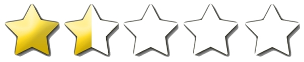 1 and a half stars